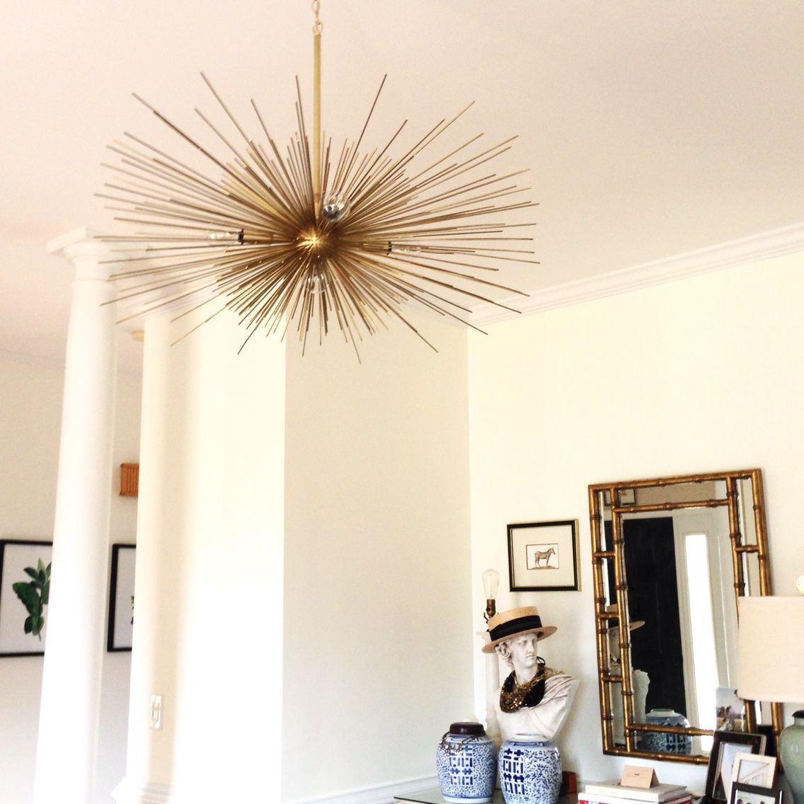 Urchin chandelier by dutton brown in white dining room dining urchin chandelier by dutton brown in white dining room aloadofball Gallery