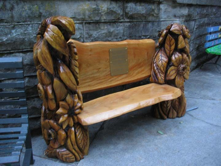 Carved with chainsaw benches pinterest