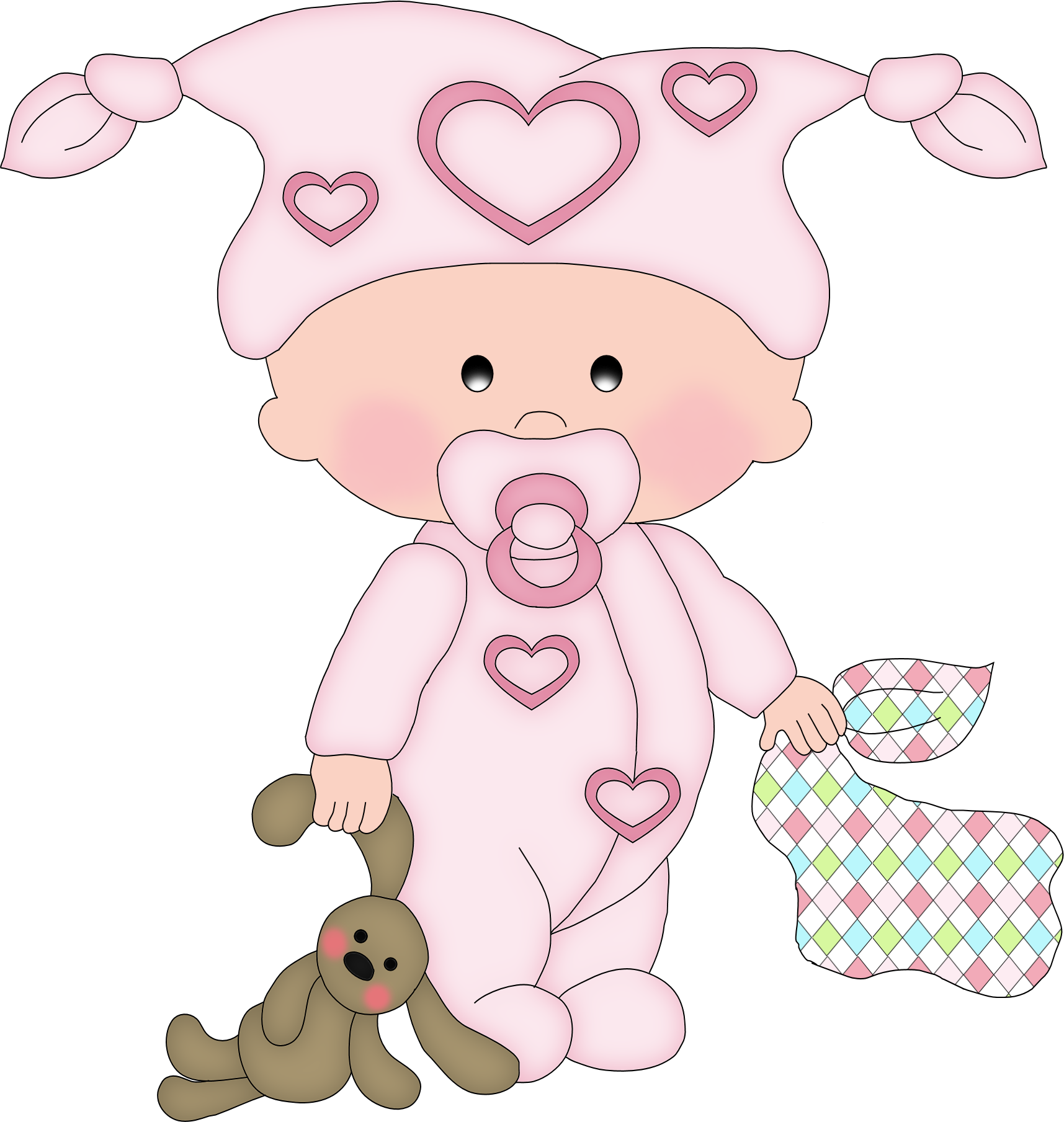 картинки младенец шаблон