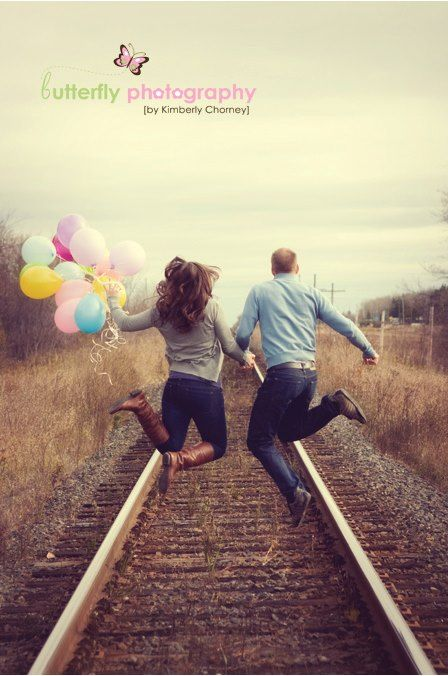 Balloons and traintracks... Butterfly photography.