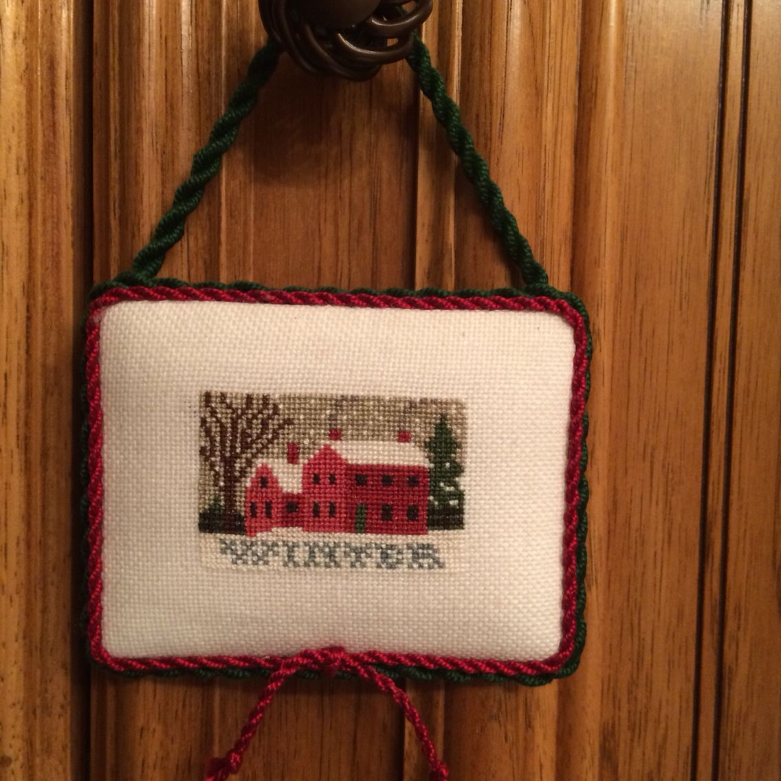 Winter Christmas Cross Stitch One of my favorites.