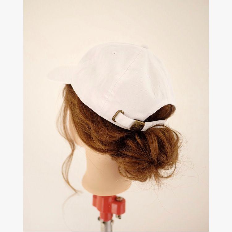 帽子が似合うお団子アレンジ キャップ ヘアアレンジ 帽子 ヘア