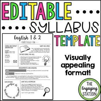 course syllabus template for teachers