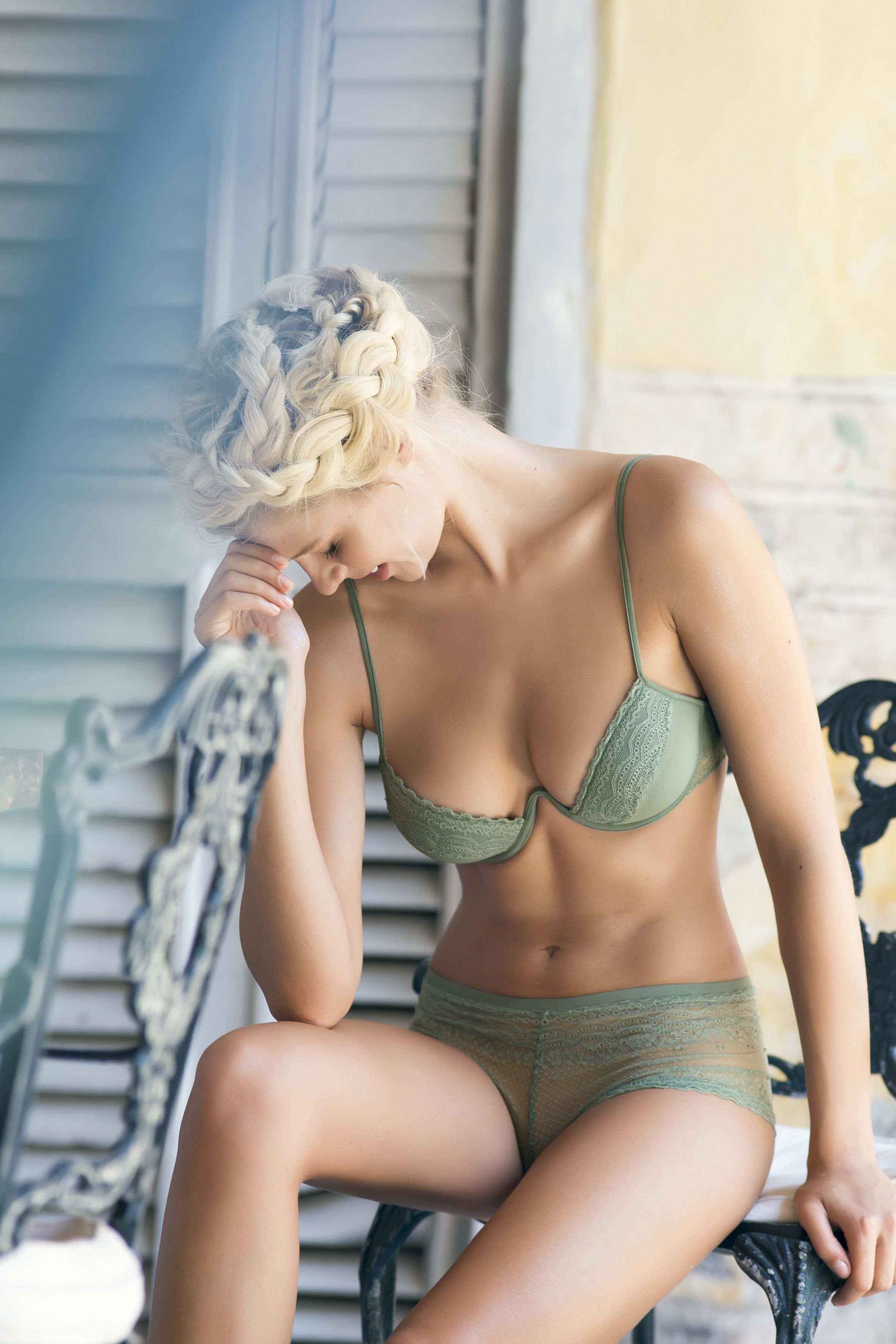 1dcc2d170b Green Underwire Bra Set   Shop Online at www.touche.com.co Touche Lingerie  Collection   Gintare Sudziute