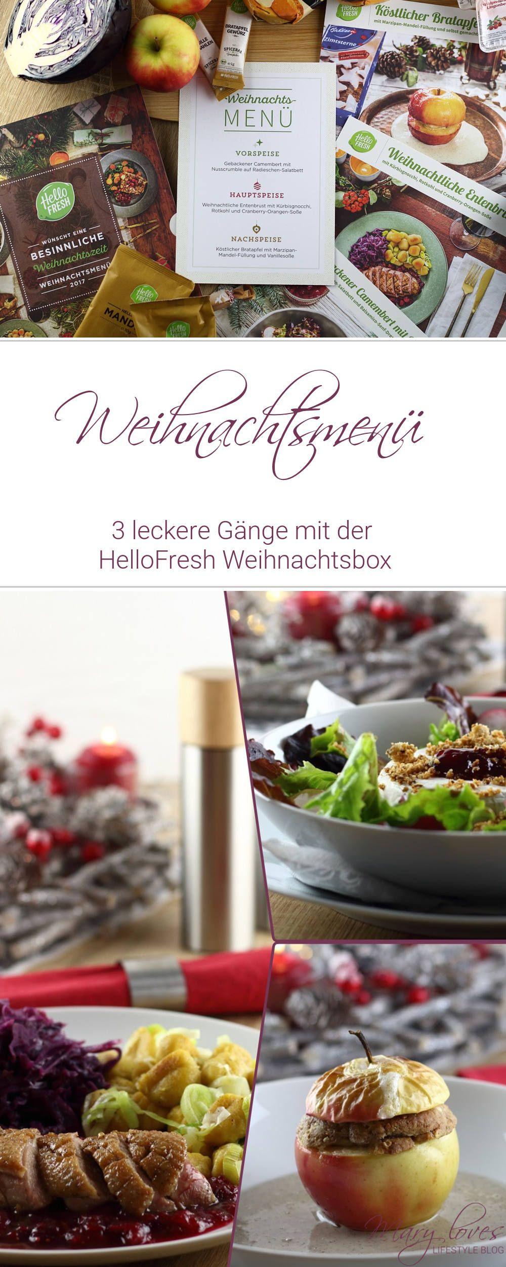 Raffiniertes Weihnachtsmenü.Ein Leckeres Weihnachtsmenü Mit Der Hellofresh Weihnachtsbox Mary
