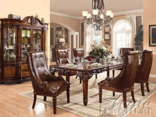 Acme Furniture - Winfred 8 Piece Rectangle Dining Table Set in