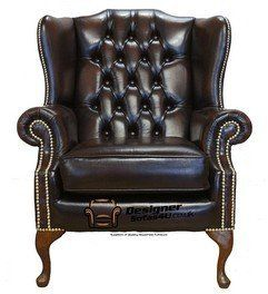 Chesterfield Mallory Flat Wing Queen Anne High Back Wing Chair UK Manufactured Antique Brown Brass Studs  sc 1 st  Pinterest & Chesterfield Mallory Flat Wing Queen Anne High Back Wing Chair UK ...