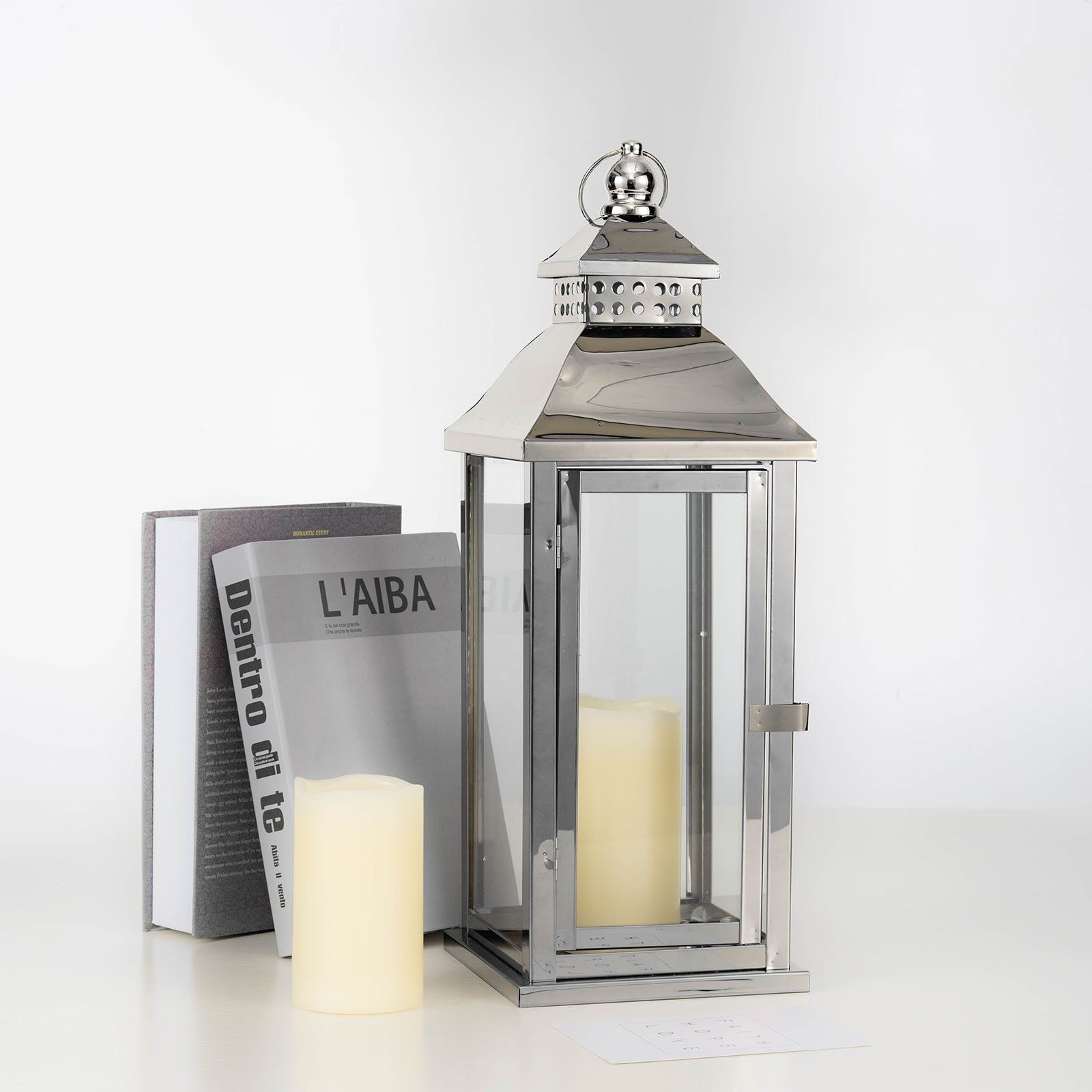 Free 2 Day Shipping Buy Efavormart 19 5 Prism Top Stainless Steel Lantern Candle Holder Tabletop Centerp Metal Lanterns Lantern Candle Holders Candle Holders Outdoor candle lanterns for sale