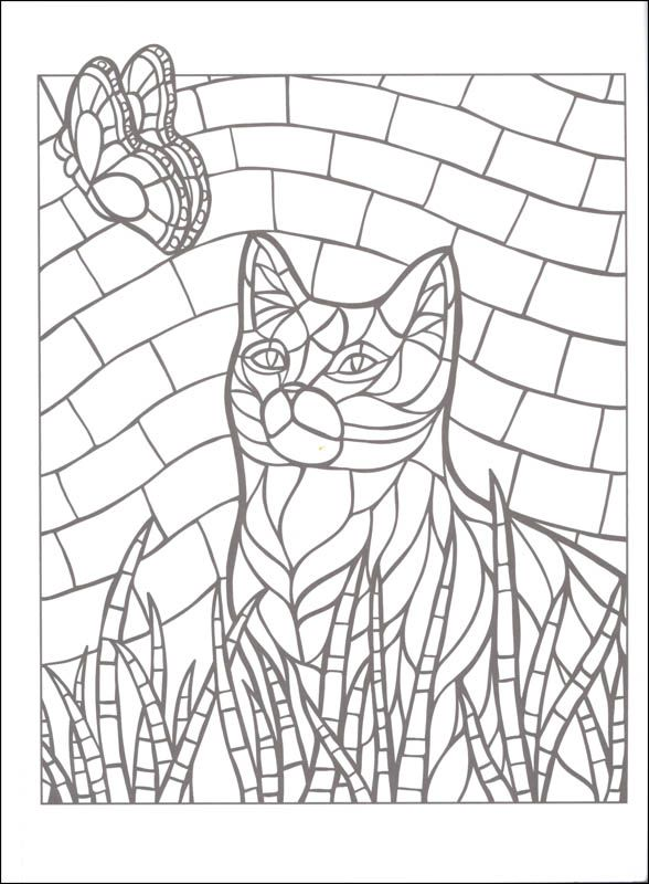 Free Printable Mosaic Coloring Pages - Coloring Home | 800x588