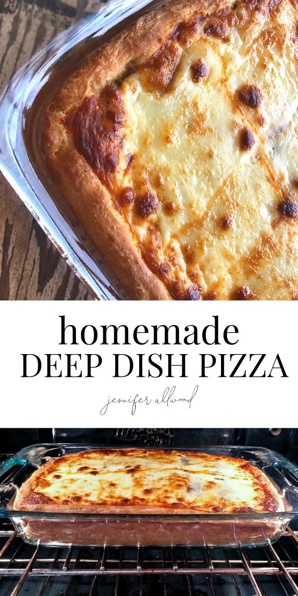 Homemade Deep Dish Pizza Recipe Deep Dish Pizza Recipe Food