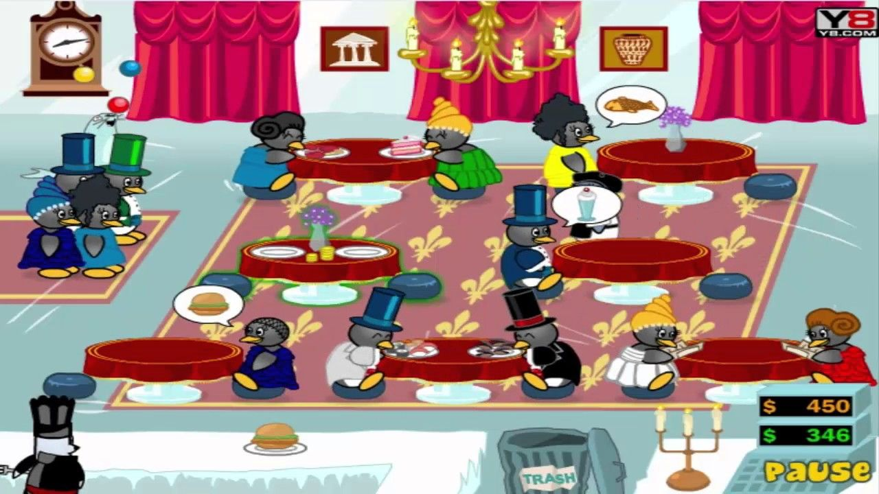 Funny Game Videos Relaxing Games Penguin Diner 2 5