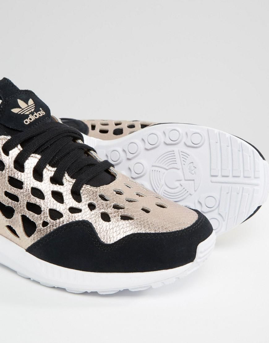 adidas originali black & gold zx flusso lace formatori pinterest zx