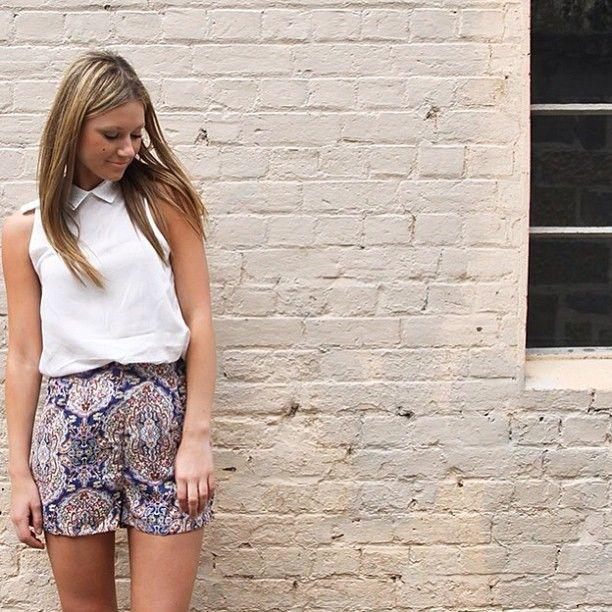 'lucille' shorts & three of something 'tinder' shirt