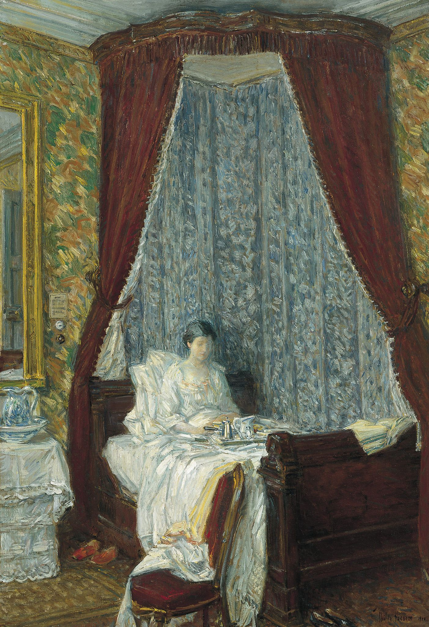 Childe Hassam The French Breakfast [1910] Painting