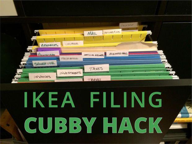 Superb IKEA Expedit Filing Cabinet Hack