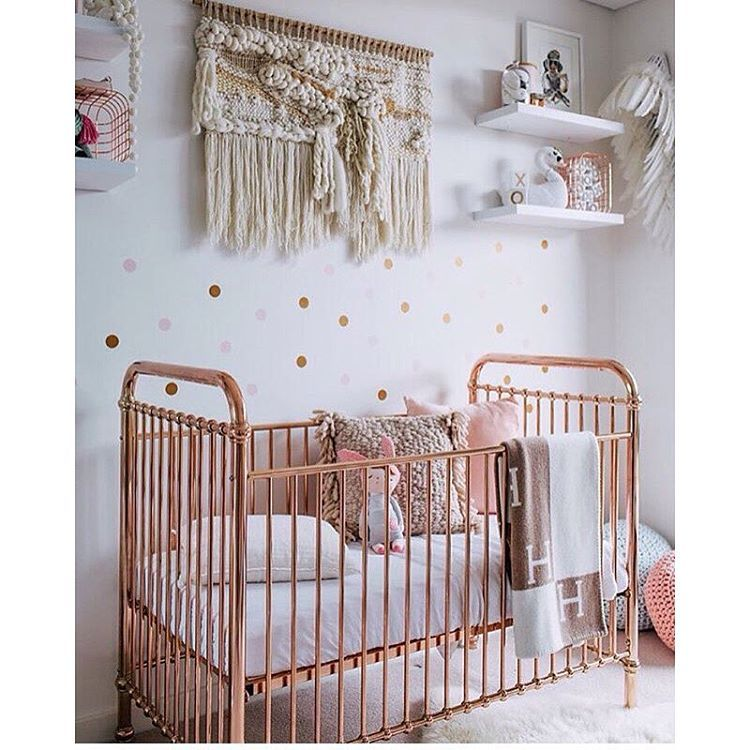 Rose Gold Cot By Incy Interiors Looking Amazing And Styled So Beautifully In Whatwillowwears