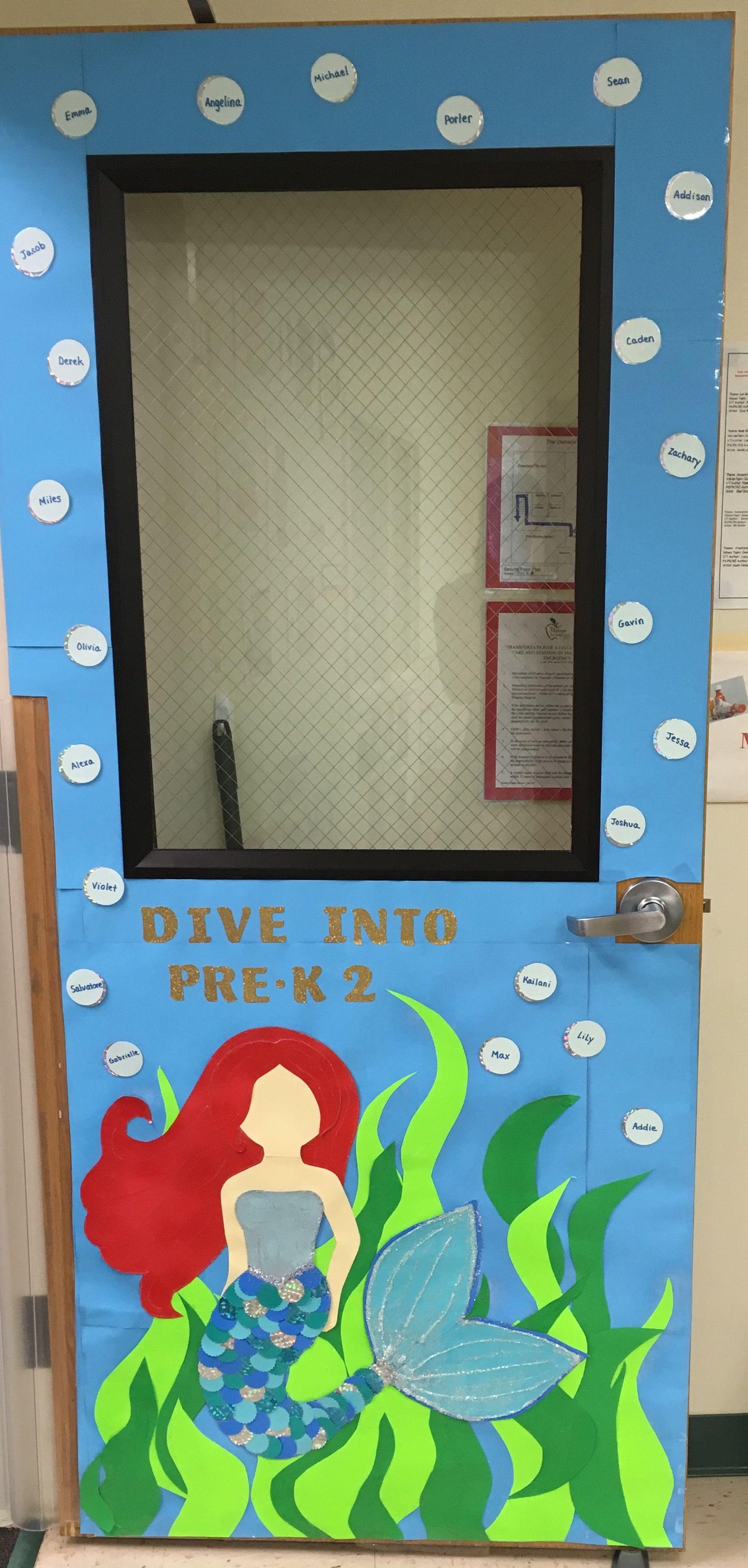 Summer Classroom Door Under The Sea Mermaid With Images Door