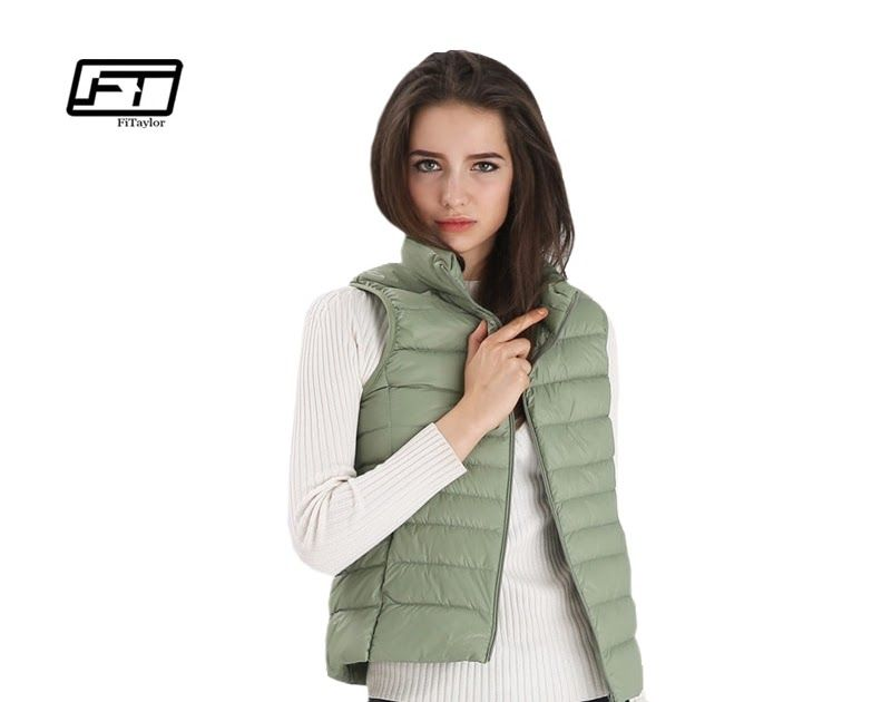 44d1ffd12 Big Discount Fitaylor New Women Vests Winter Ultra Light White Duck ...