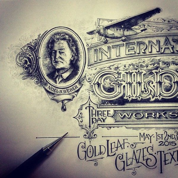 Sketch for Glass Gilding Workshop in US on Behance