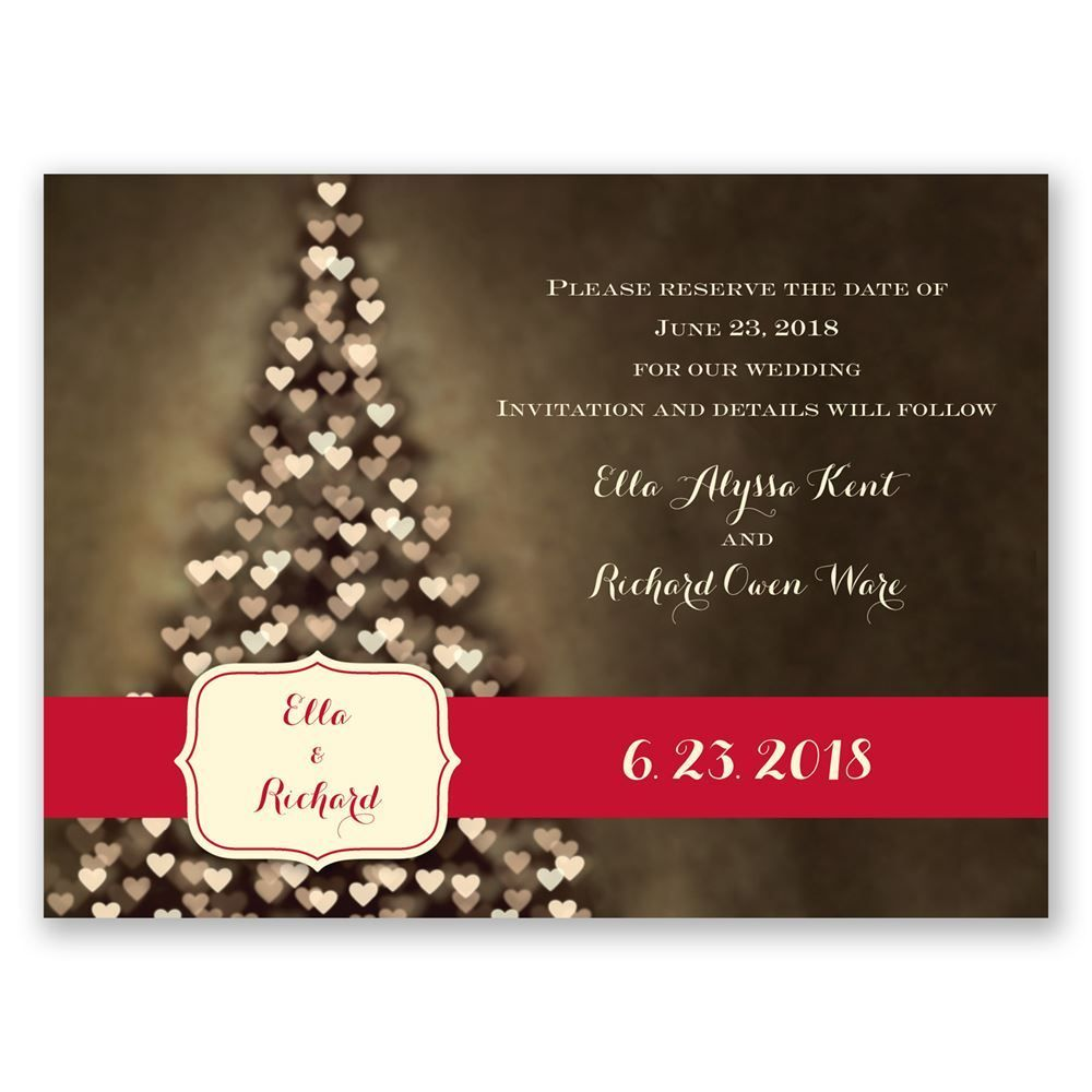 All Aglow - Holiday Card Save the Date in 2018 | Holiday Save the ...
