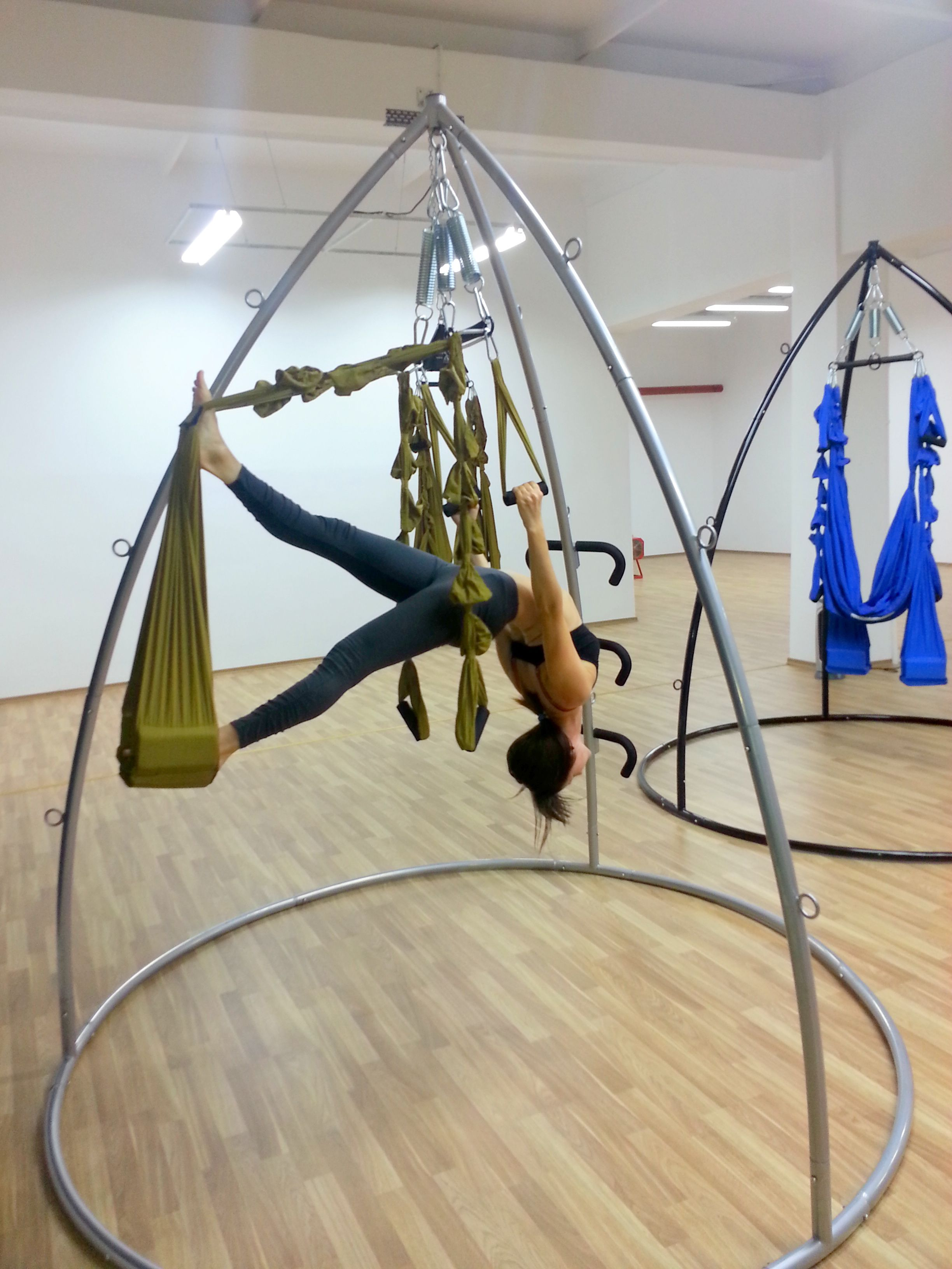 yoga swing chair poppy high review aerial pose pinterest