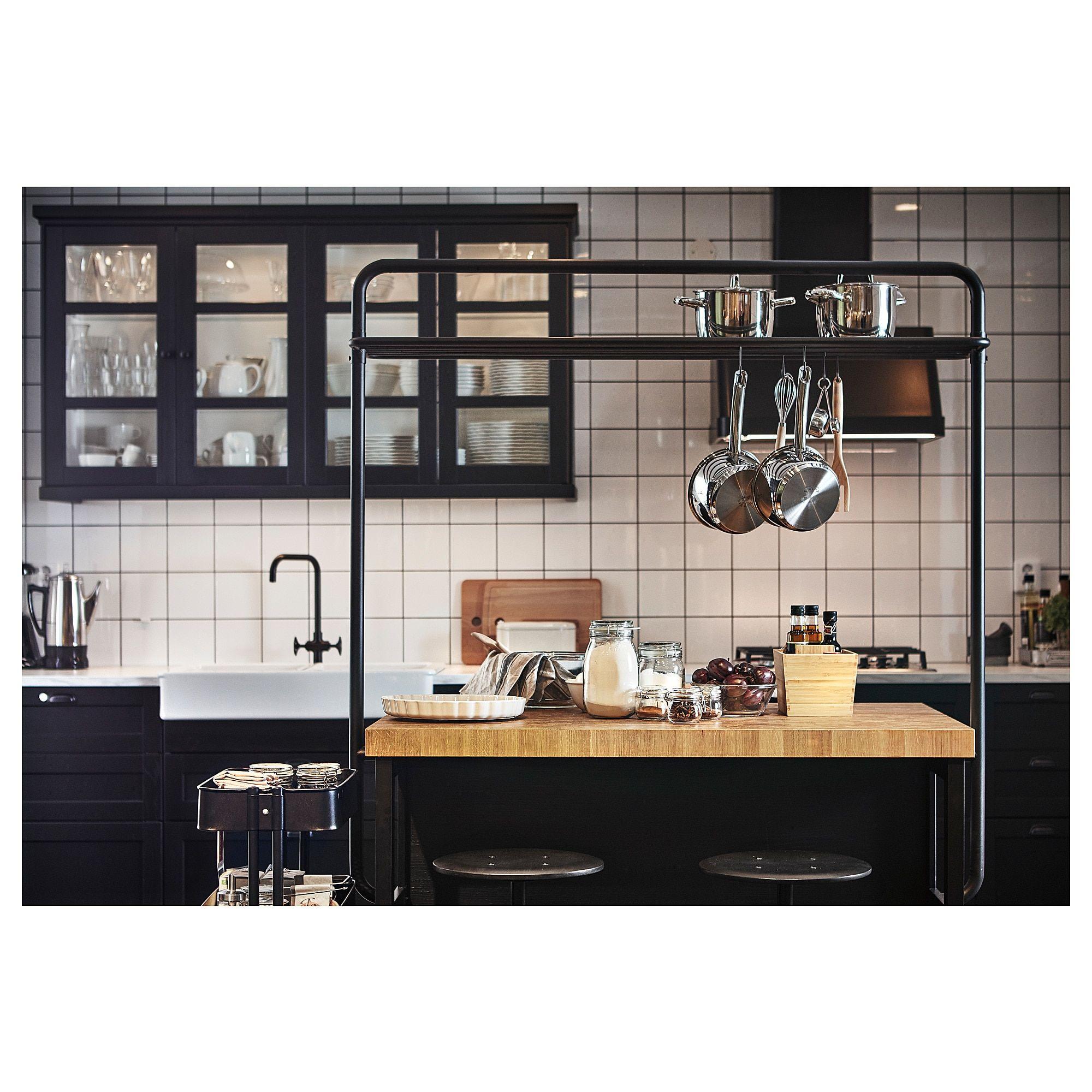 Best Ikea Vadholma Black Oak Kitchen Island In 2019 Ikea 400 x 300