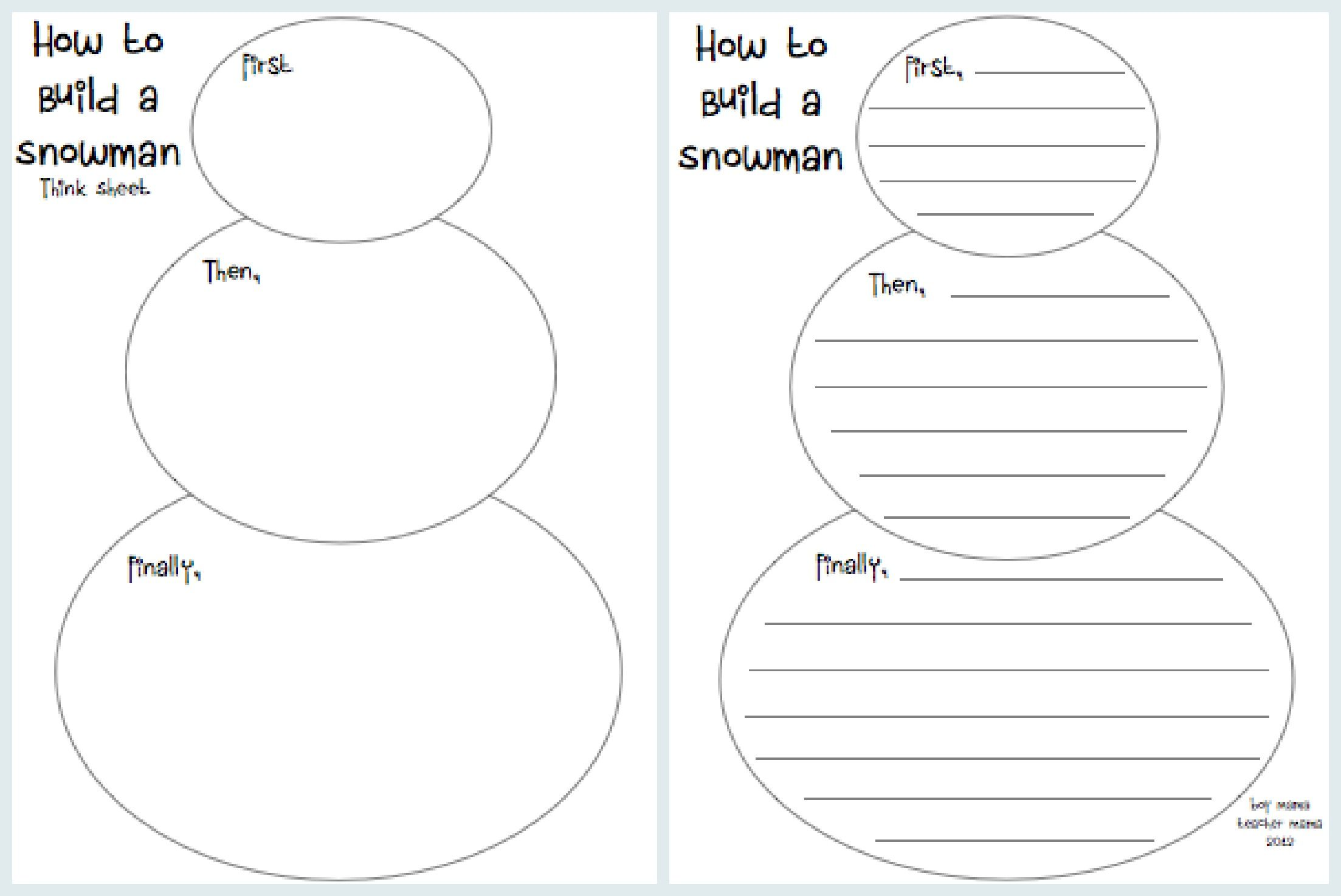 Teacher Mama How To Build A Snowman A Writing Activity