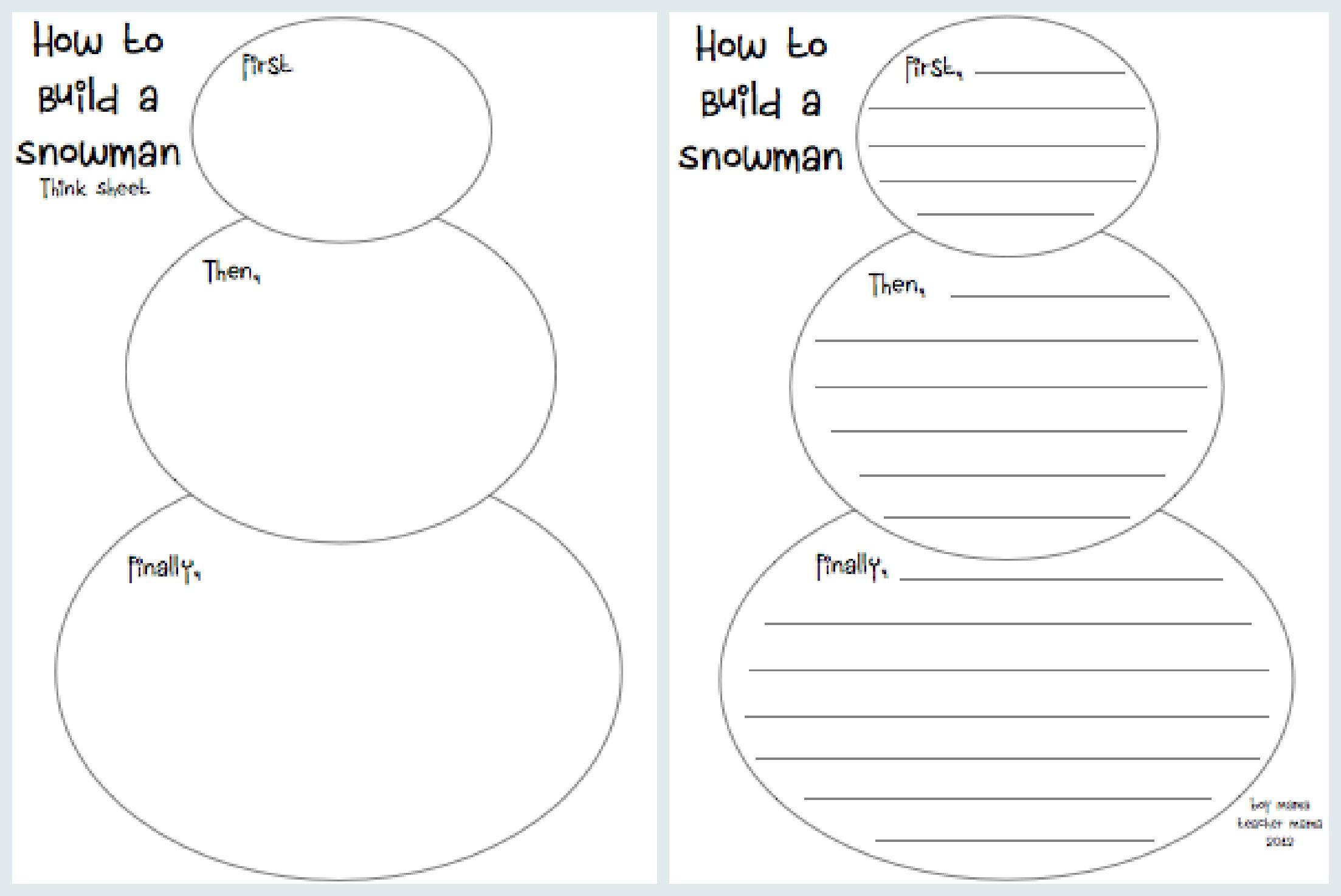 Teacher Mama How To Build A Snowman A Writing Activity