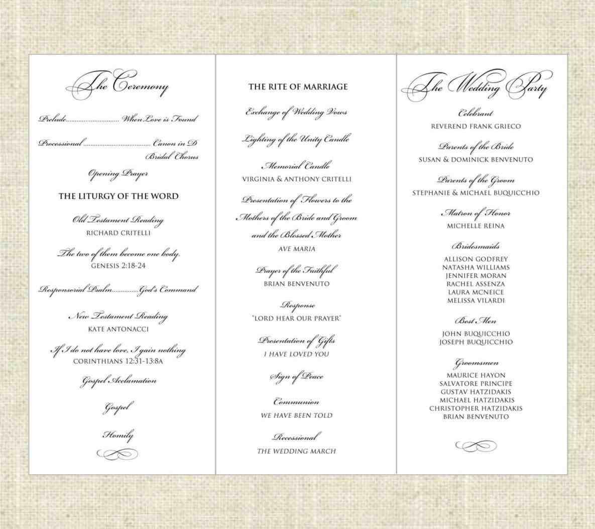 free tri fold wedding program templates weddings pinterest