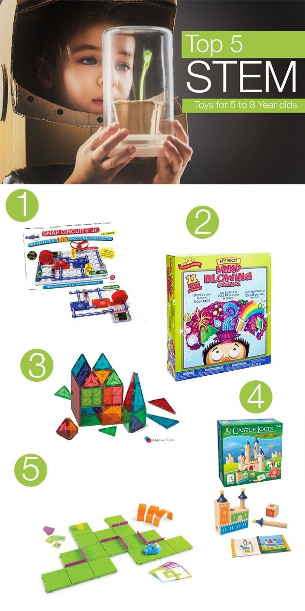 Top 5 STEM Toys for 5 to 8 Year Olds | Science gifts for ...