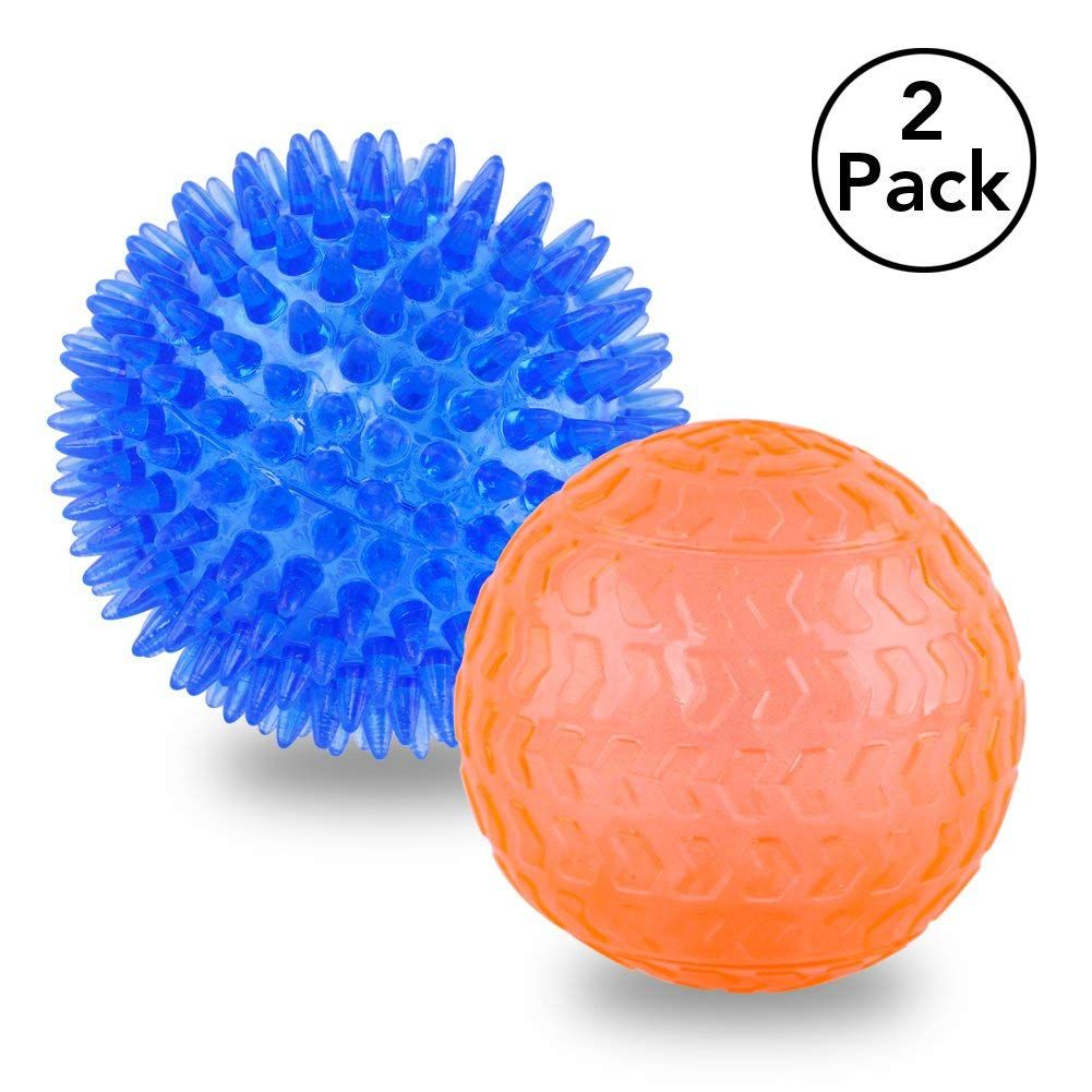 Oakzip Dog Squeak Ball Toys Durable Pet Spike Ball Toy For Tooth