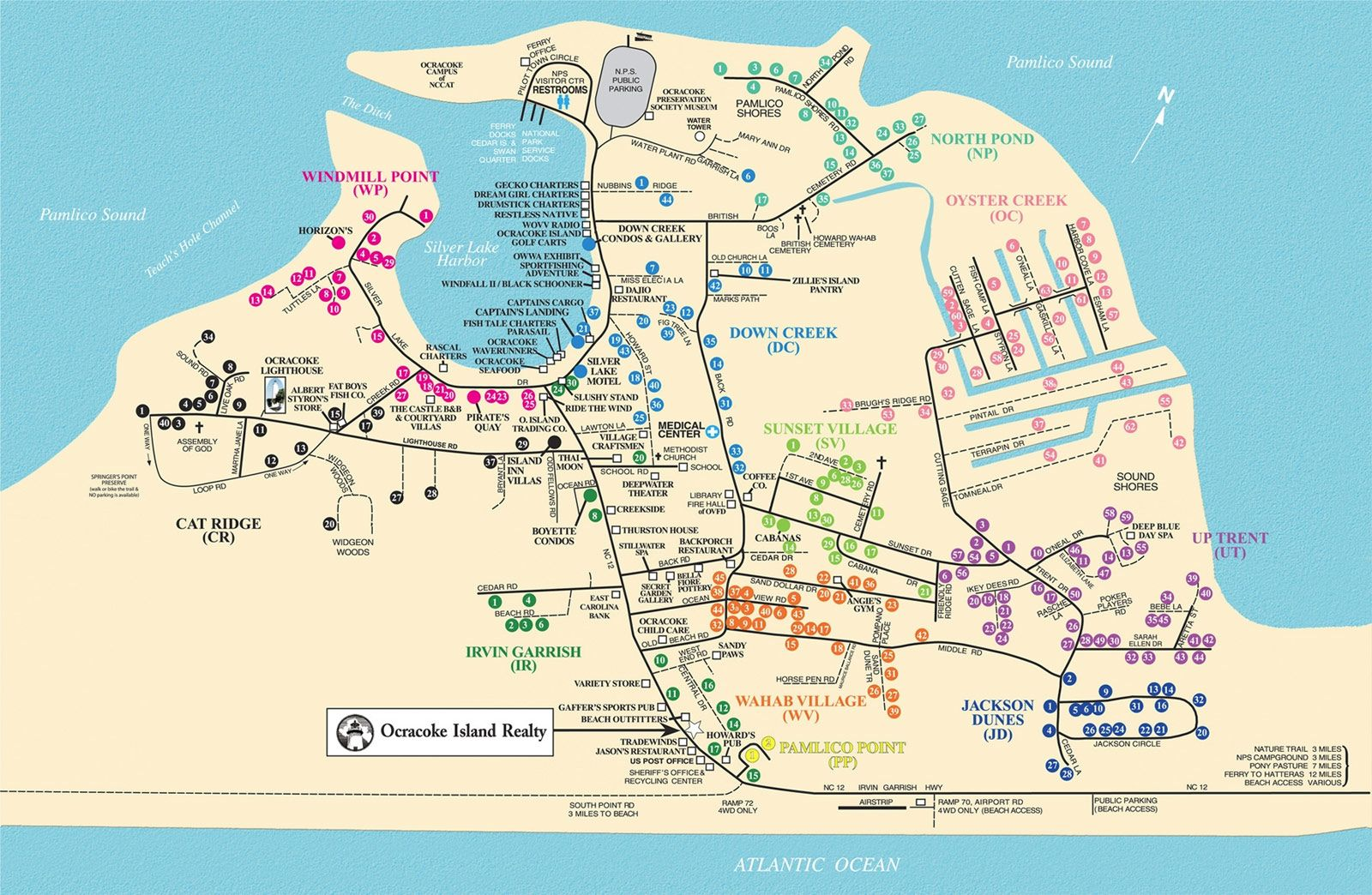Ocracoke Island Realty Rental Map Ocracoke Island Island Ocracoke