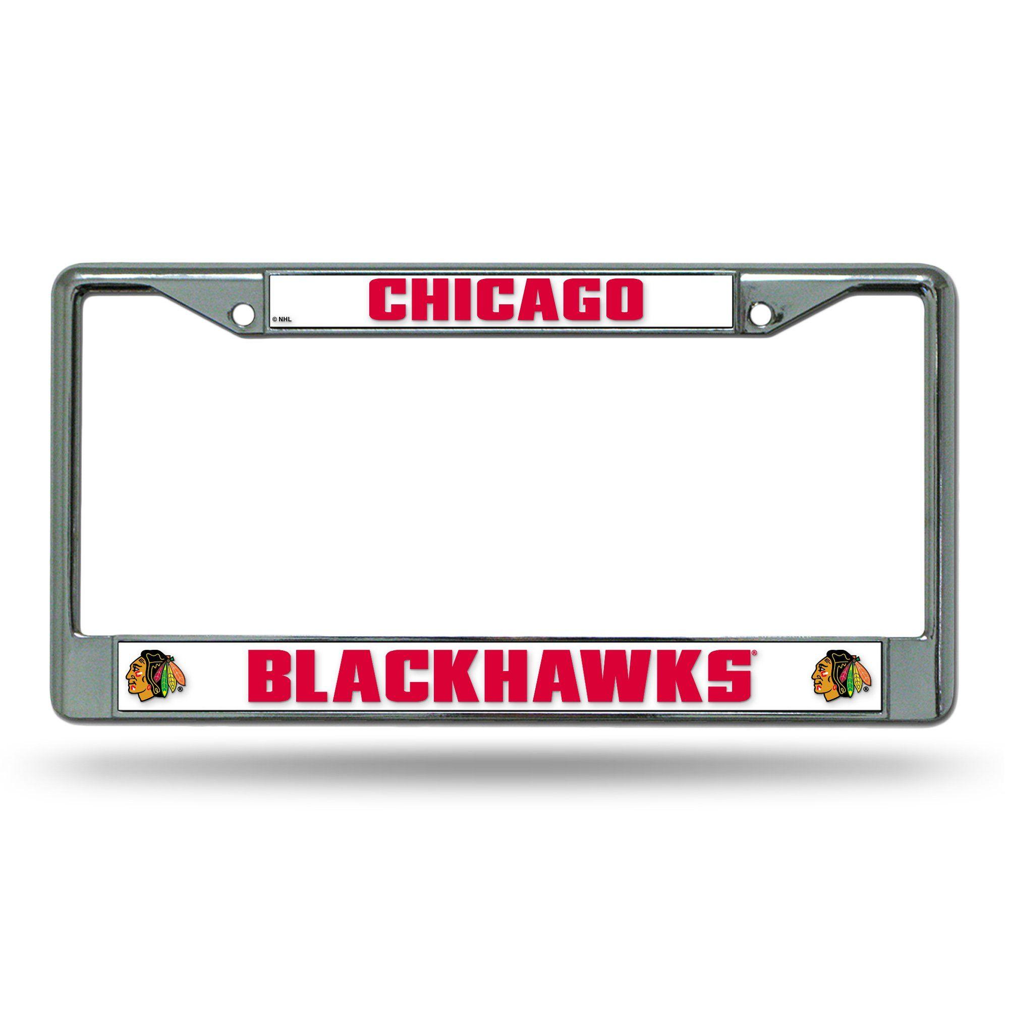 Chicago Blackhawks Chrome Frames License plate frames