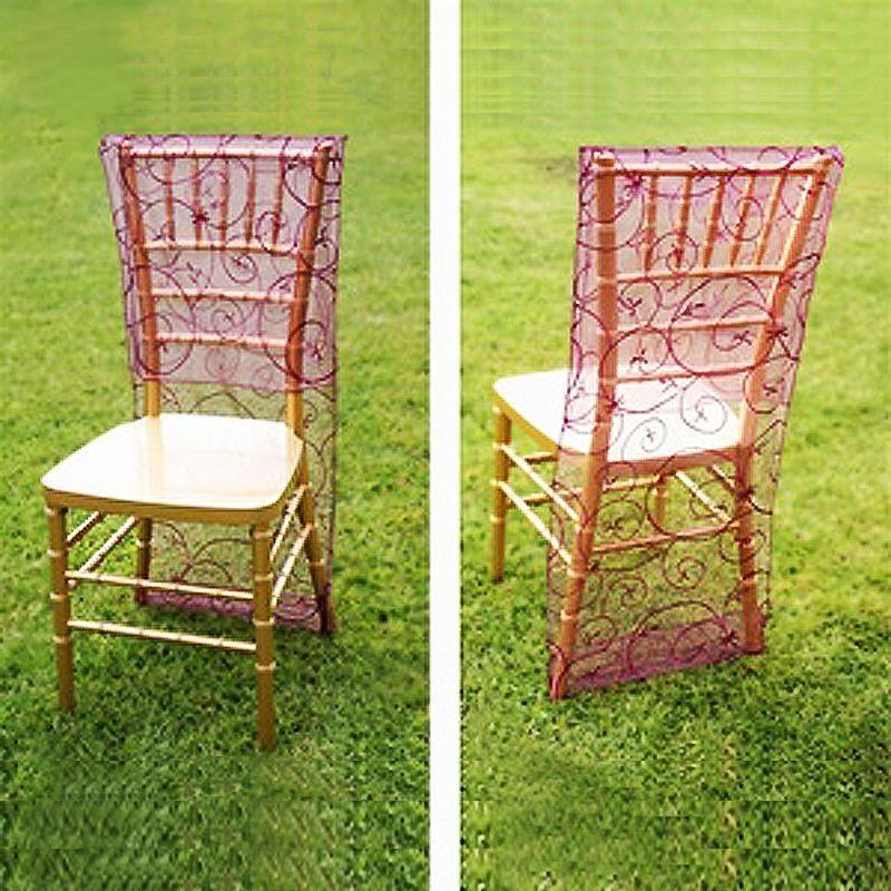 Eggplant Organza Chiavari Chair Covers Chair Slipcovers