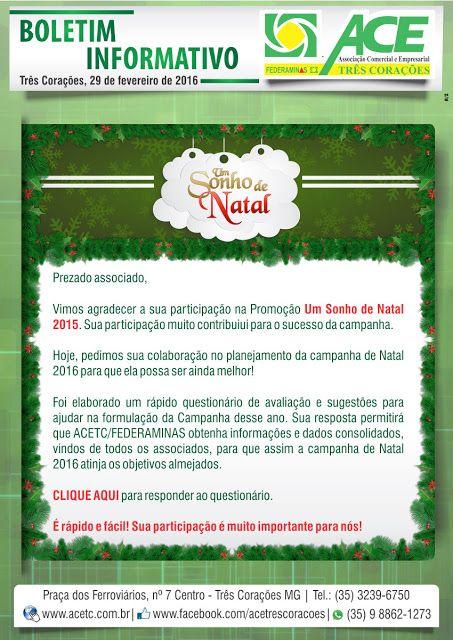 Folha do Sul - Blog do Paulão no ar desde 15/4/2012: TRÊS CORAÇÕES: BOLETIM ACE AGRADECIMENTO