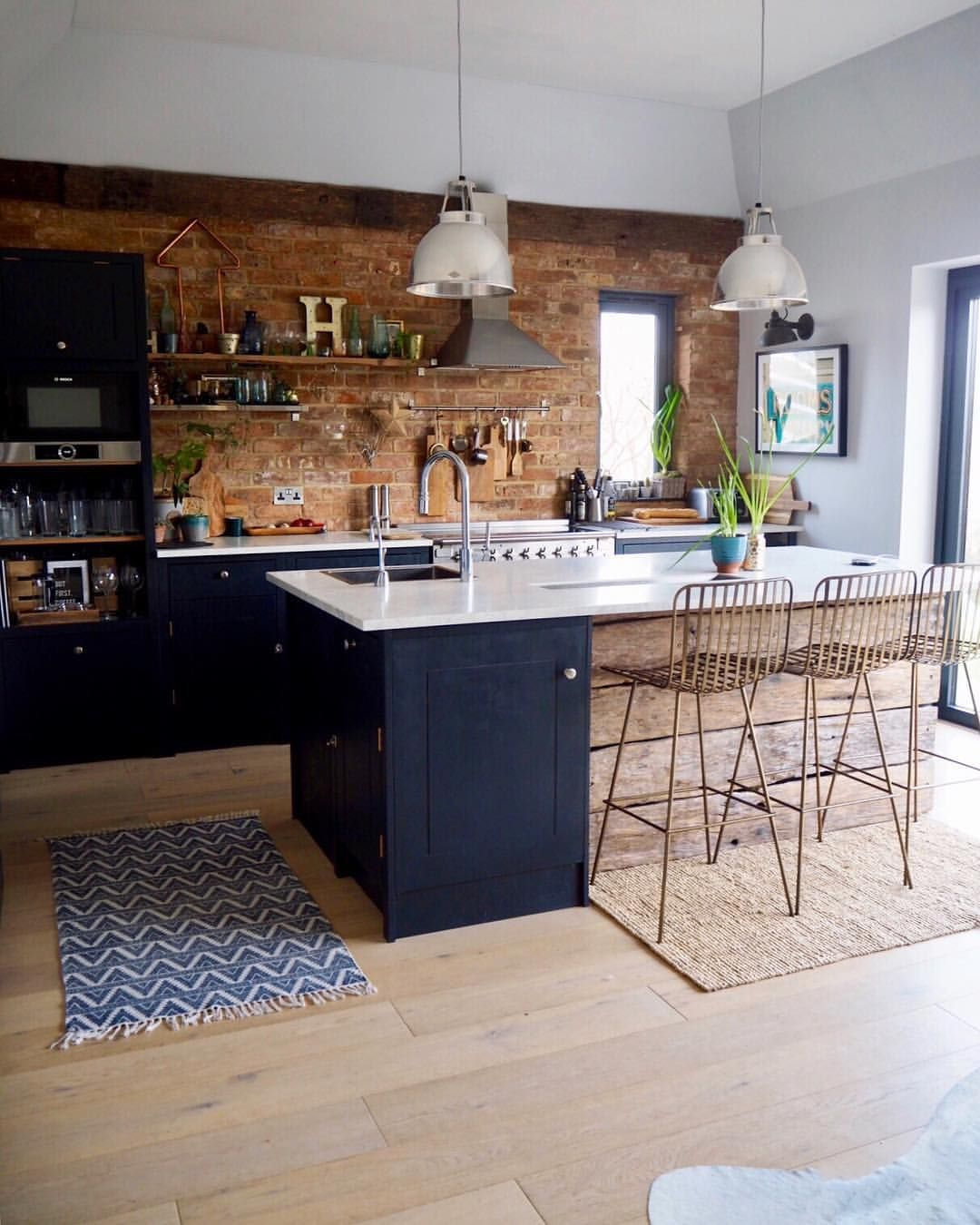 Brick Accent Wall Kitchen: Kitchens.... My Head And Pinterest Board Are Full Of Them