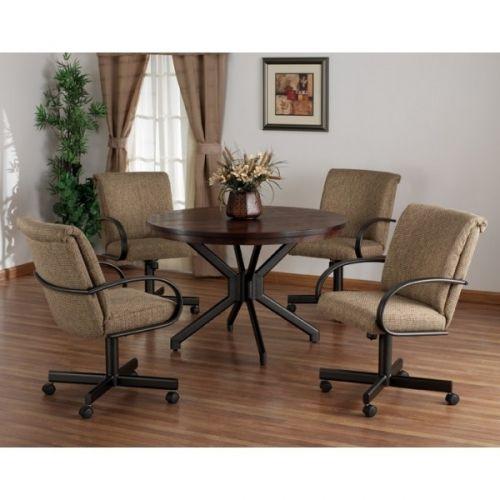 Tempo Durango Swivel Tilt Caster Dinette Set Dining Room Chairs