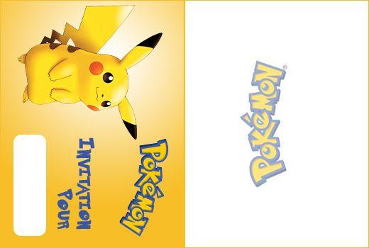 pokemon pikachu invitation a imprimer