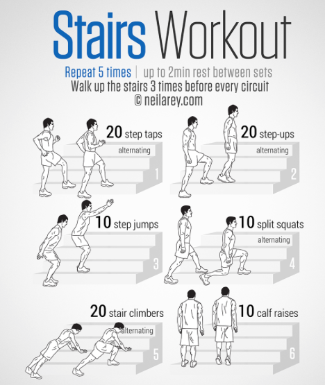 This Workout Can Be Done By Anybody At Home Unless You Live In A Bungalow Of Course Stairswo Stairs Workout No Equipment Workout 30 Day Workout Challenge