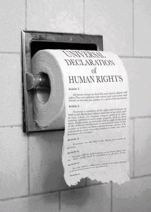 Ne pas considérer la Déclaration Universelle des Droits de l'Homme comme cela...
