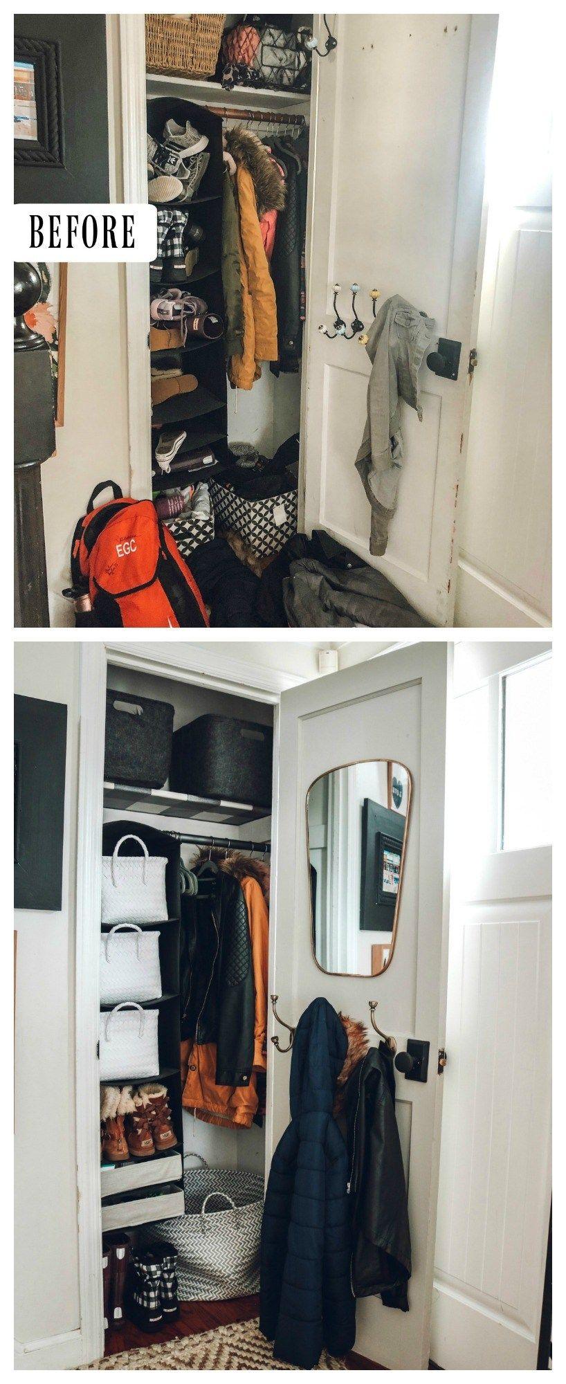 Marie Kondo Monday Entry Closet Makeover Nesting With Grace Entry Closet Organization Entry Closet Closet Organization Diy