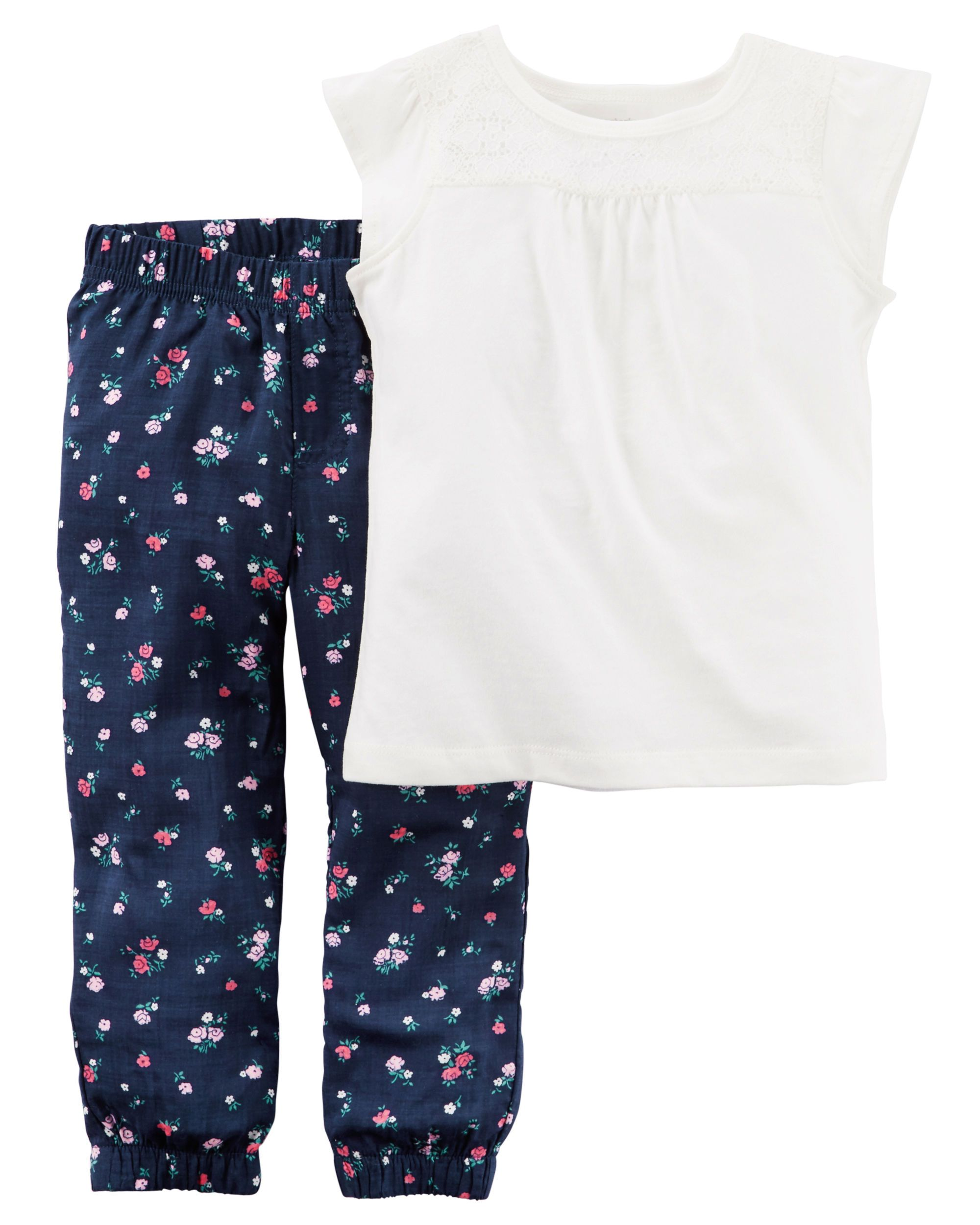 Carters Little Girls Joggers Toddler//Kid 2T - Navy