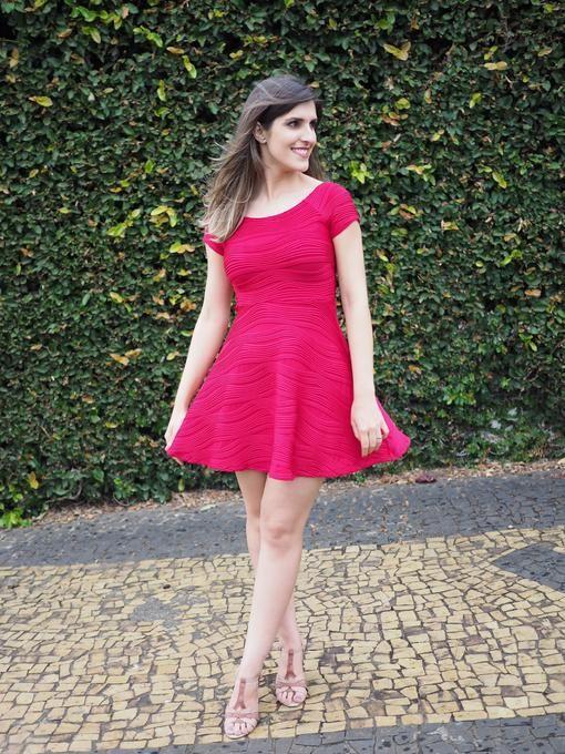 Lookbook – Vestido vermelho Forever 21