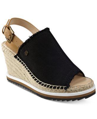 Tommy Hilfiger Yolanda Slingback Platform Wedge Sandals - Sandals - Shoes -  Macy's