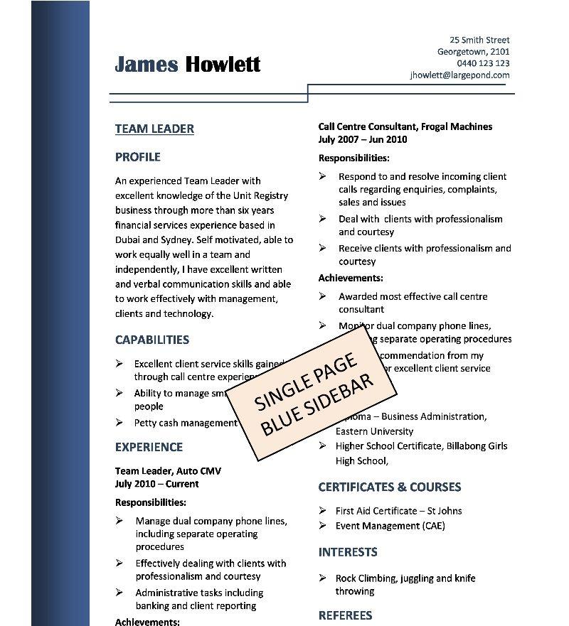 tradesman resume templates