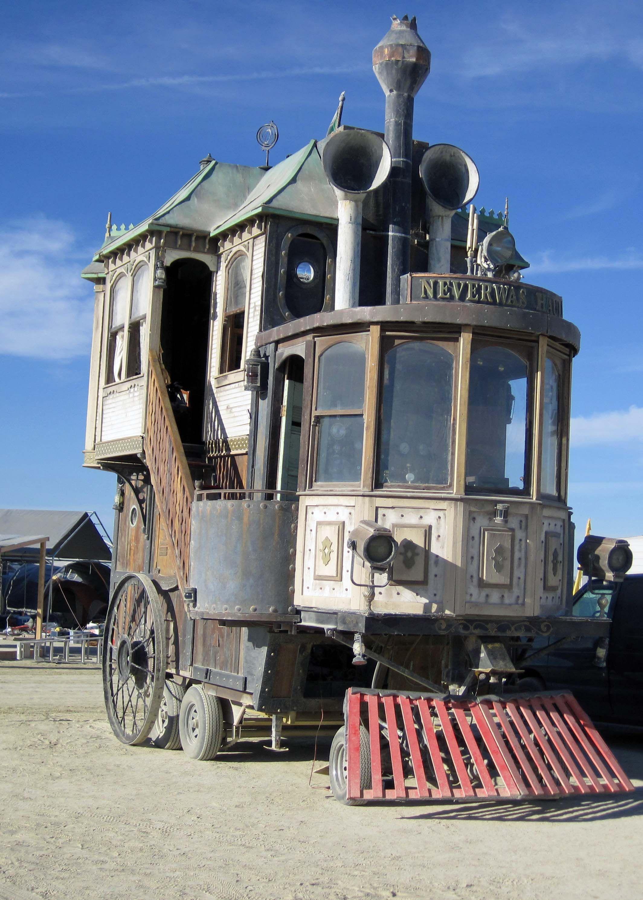 Burning Man and Steampunk… Burning Man 2013 Old trains