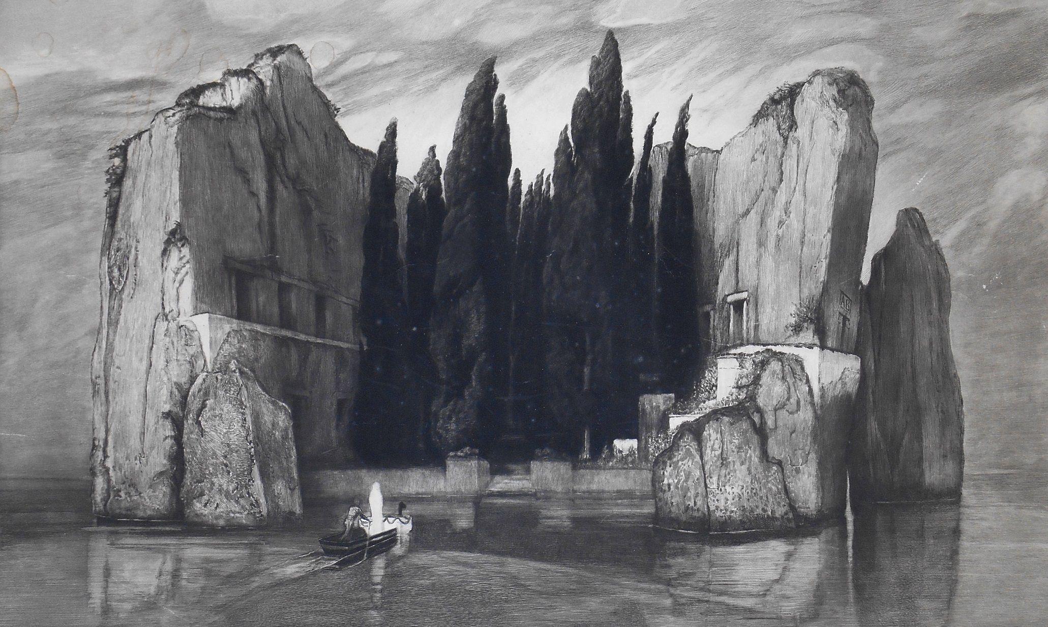 Max Klinger, Isola dei Morti - 1898 - Acquaforte, acquatinta