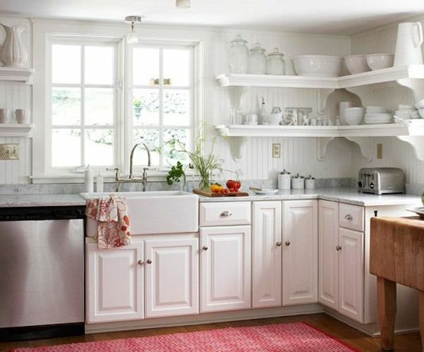 Wandregale Für Küche eckregale designs die raum sparen und modernen look verleihen