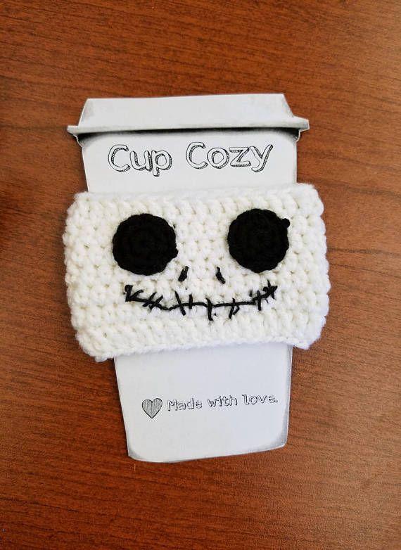 Skellington - Coffee Cup Cozy | Pinterest | Fieltro