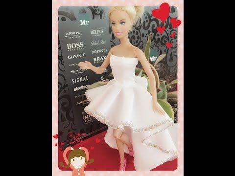how to make ballroom dress for barbie no1  youtube long